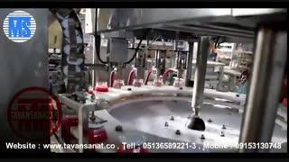 ویدئو دستگاه پرکن و دربندی مایعات غلیظ ظروف شیشه