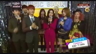 گروه T-ara و Exo قبل از اجرا