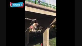 اقدام به خودکشی نافرجام دختر جوان در پل چمران اصفهان