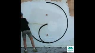 روشی آسان برای طراحی روی دیوار