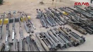 کشف انبار مهمات داعش در شهر دیرالزور توسط نیروهای ارتش سوریه