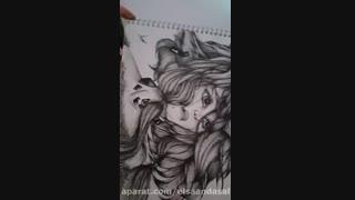 نقاشی انیمه ای حرفه ای من با راپید