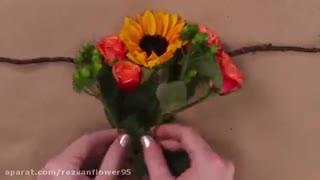 آموزش تزیین مو با تاج گل طبیعی خوشگل