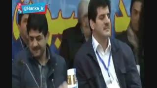 تمسخر عباس جدیدی در مجمع کشتی
