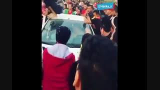 حمله هواداران فولاد خوزستان به یک هوادار پرسپولیس