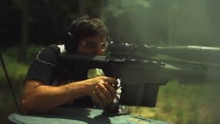 تیراندازی با اسلحه دوربین دار کالیبر 50 چندین برابر آهسته تر