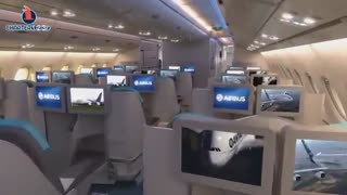 نمای داخل کابین ایرباس A380 - غول آسمان ها