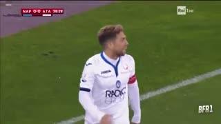 خلاصه فوتبال ناپولی 1-2 آتالانتا