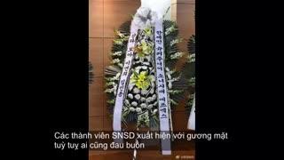 ته یون ویوناوهیویون وسوهیون ویوری از snsd درمراسم خاکسپاری کیم جانگ هیون