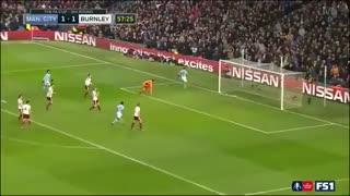 خلاصه فوتبال منچسترسیتی 4-1 برنلی
