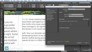 InDesign CC 2018 Using character styles