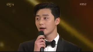 ❤️ کیوت بازی پارک سئو جون و کیم جی وون زوج سریال مبارزه برای راهم .. در مراسم KBS Drama Awards
