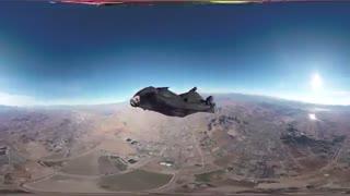 پرواز انسان در آسمان - دوربین 360 درجه