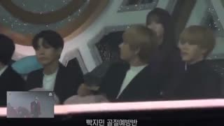 180110 BTS Reaction to Wanna One - Energetic & Twilight @ GDA 2018