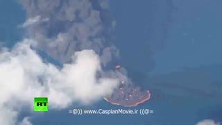 لحظات اولیه انفجار و آتش سوزی شدید در نفتکش کشتی سانچی