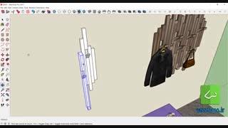 طراحی جا لباسی در sketchup (مرور ابزارهای اسکچ آپ)