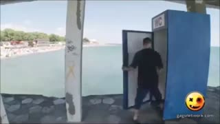 دوربین مخفی - جابجایی توالت