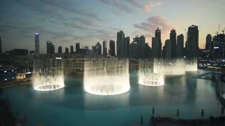 مراسم فواره های آبی Dubai با پخش آهنگ power اکسو ~