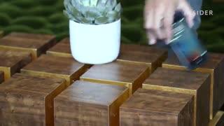 خلاقیت جالب در ساخت میز