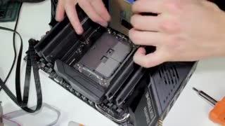شهرسخت افزار: نصب پردازنده EPYC  بر روی مادربرد X399