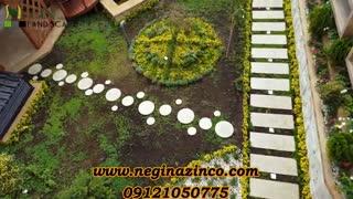 طراحی و ساخت آبنما دیواری و طراحی محوطه و فضای سبز