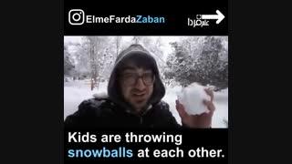 اصطلاحات مربوط به برف در انگلیسی - برف تهران