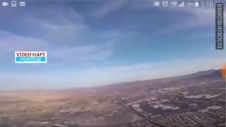 پهپادبازی خطرناک بر فراز هواپیمای مسافربری