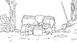 کارتون گربه سایمون و روز ولنتاین