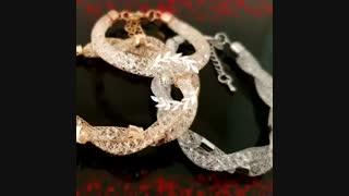 دستبند کریستال و استیل دو رشته سواروسکی استارداست erosshop.ir