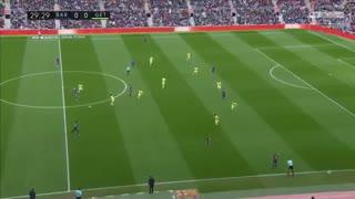 نیمه اول بازی بارسلونا و ختافه ( 22 بهمن 96 )
