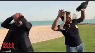 گریم هادی حجازی فر در پشت صحنه فیلم لاتاری