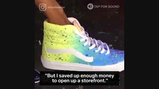 کفش با قابلیت تغییر رنگ در نور خورشید