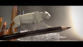 انیمیشن کوتاه حیات وحش کاغذی