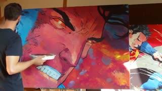 """نقاشی زیبای """"خشم سوپرمن"""""""