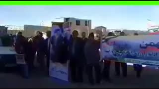 توهین امام جمعه کزاز از توابع اراک به مردم بخاطر شرکت نکردن در راهپیمایی