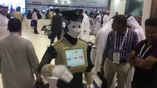ربات پلیس در جیتکس 2017