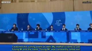 کنفرانس مطبوعاتی EXO برای المپیک زمستونی(پیونگ چانگ) با زیرنویس فارسی