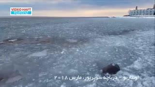 ✅ وقتی یک دریاچه بزرگ تبدیل به یخدربهشت میشود