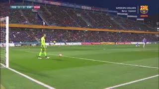 فول مچ بازی بارسلونا 4-2 اسپانیول ( فینال سوپرکاپ کاتالونیا )