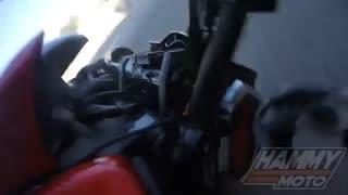 خوش شانس ترین موتورسوار جهان