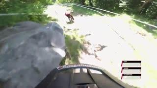 دوچرخه سواری کوهستانی با سرعت مرگبار