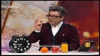 شوخی جالب رضا رشیدپور با آگهیهای تبلیغاتی تلویزیون در برنامه حالا خورشید