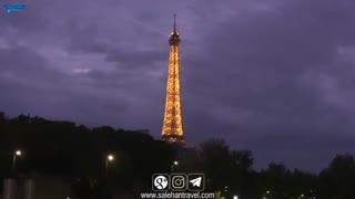 درخشش شهر زیبای پاریس در شب