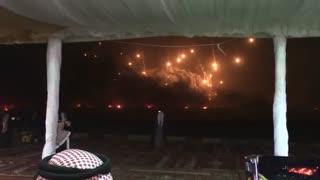 نمایش قدرت آتشی عربستان