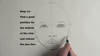 طراحی مرحله به مرحله چهره دختر