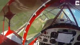 خلبان توانست چند متر مانده به زمین موتور از کار افتاده را به کار بیندازد