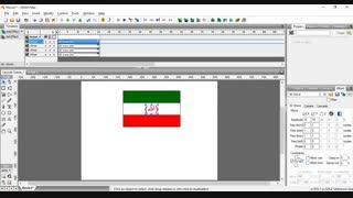 آموزش ساخت پرچم متحرک ایران با خروجی exe