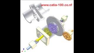مکانیزم چرخ دنده با چهار شاخ گاردان