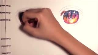 آموزش نقاشی حرفه ای: چشم های انیمه/مانگا در حال تماشای غروب Tutorial: How to Draw Sunset Anime/Manga Eyes アニメ