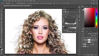 چطور رنگ مو را در فتوشاپ عوض کنیم آموزش فارسی